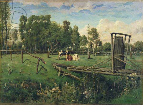 A Pasture in Normandy (oil on canvas)