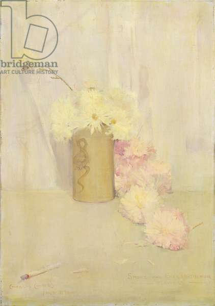 Smoke and Chrysanthemum Flowers, 1890 (oil on canvas)