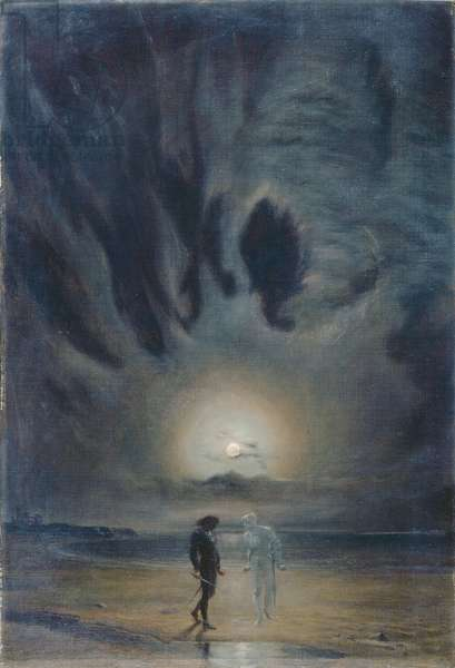 Hamlet and the Ghost, 1901 (oil on canvas)