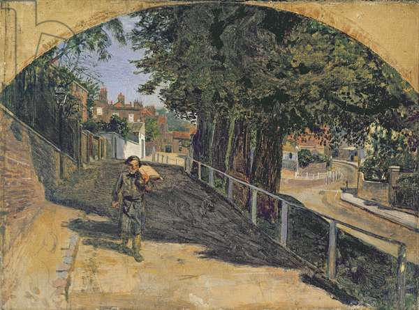 Heath Street, Hampstead, 1852-55 (oil on canvas)