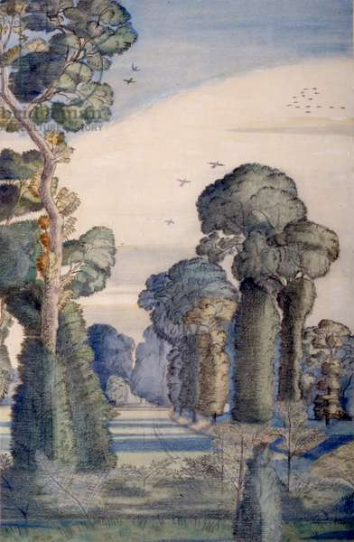 A Landscape at Wood Lane, 1913 (w/c on paper)