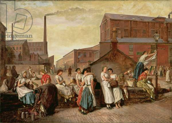 The Dinner Hour, Wigan, 1874 (oil on canvas)