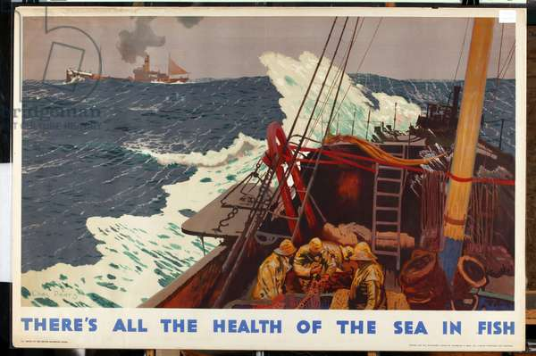 There's all the Health of the Sea in Fish, from the series 'Caught by British Fishermen' (colour litho)