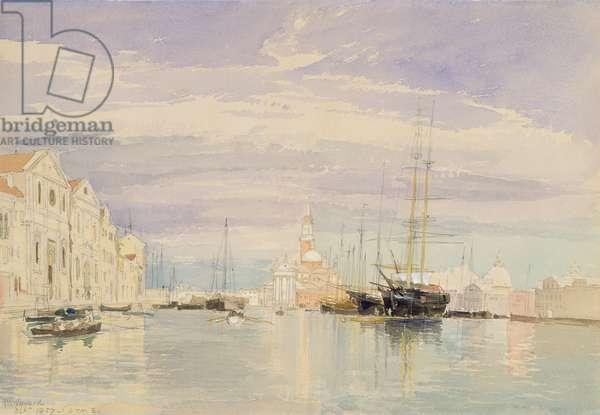 The Giudecca with S. Giorgio Maggiore, Venice, 1857 (w/c on paper)