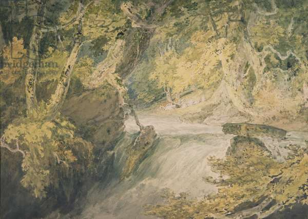 A River in Spate, c.1796 (w/c on paper)