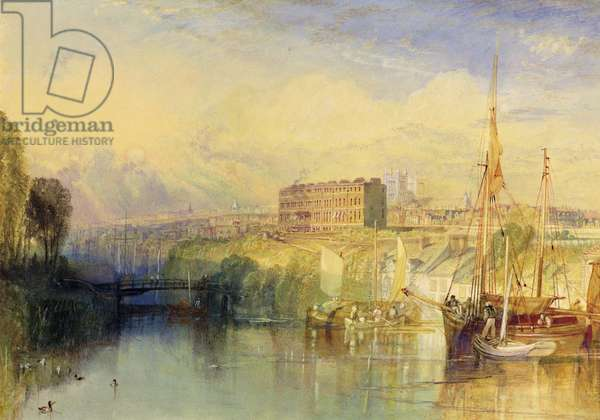 Exeter, c.1827 (w/c with scraping & stopping out and gum arabic on paper)