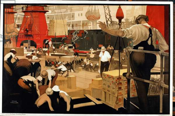 Untitled, from the series 'The Empire is Still Building', c.1927 (colour litho)