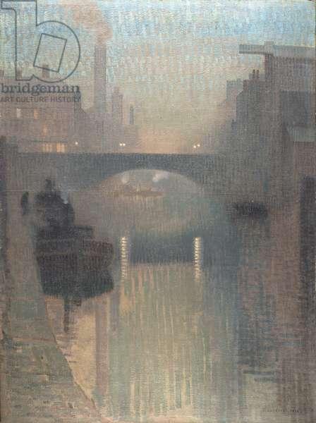 Bailey Bridge, Manchester, 1912 (oil on jute)