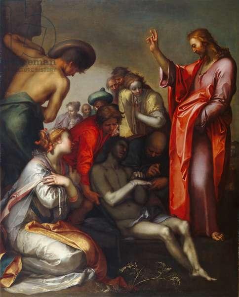 The Raising of Lazarus, 1600-05 (oil on canvas)
