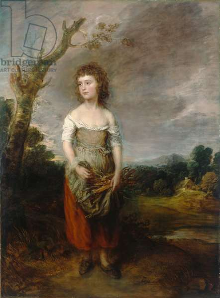 A Peasant Girl Gathering Faggots in a Wood, 1782 (oil on canvas)