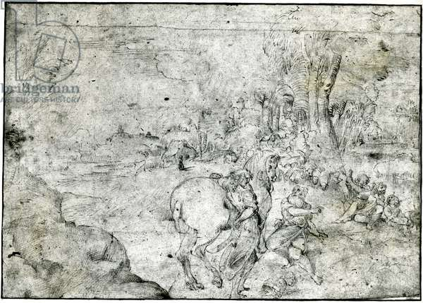 Erminia and the Shepherds, c.1600 (pen & ink on paper)