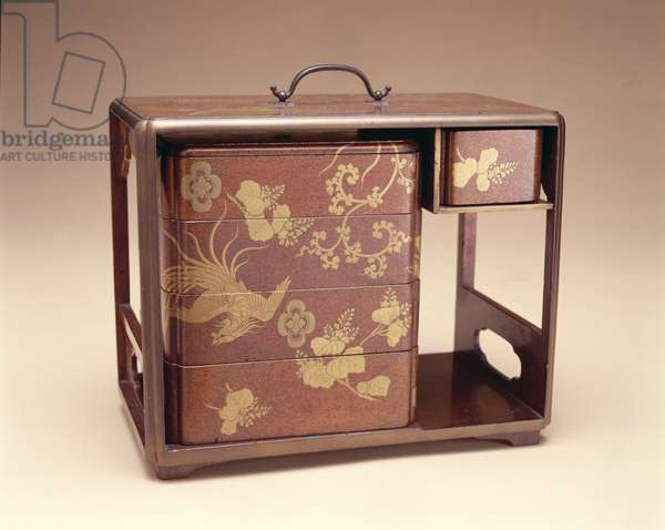 Sagejubalco, or Picnic Set, 1800-50 (wood with lacquer & gilt bronze fittings)