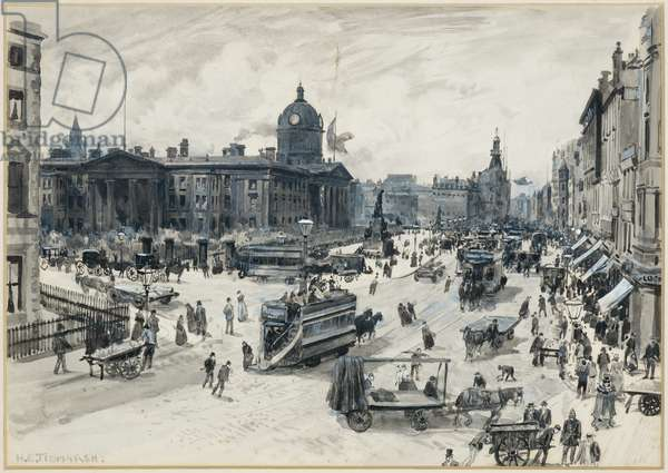 Piccadilly and the Infirmary, 1893-94 (w/c gouache on paper)