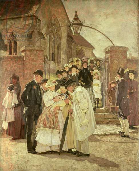 Christening Sunday (South Harting, Sussex) 1887 (oil on canvas)