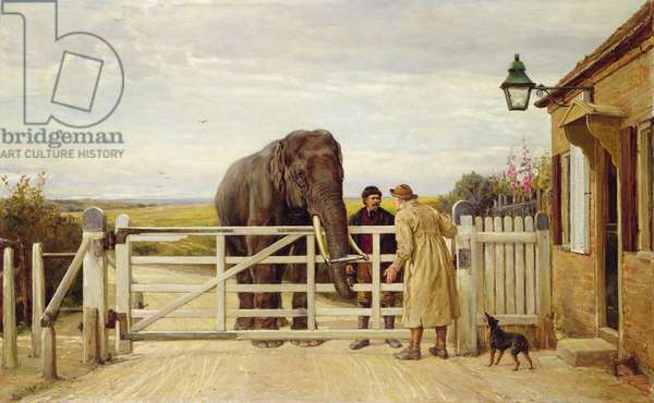 The Disputed Toll, 1875 (oil on canvas)