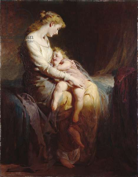 Mother and Child, 1873 (oil on canvas)