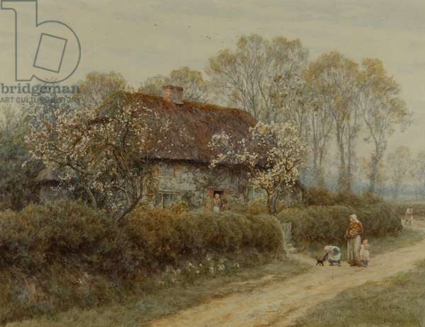 A Cottage at Freshwater Gate, 1891 (w/c on paper)