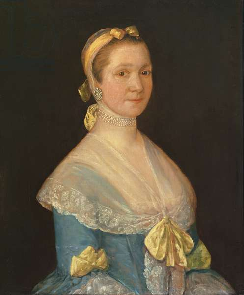 Mrs Prudence Rix (1708-83) c.1756 (oil on canvas)
