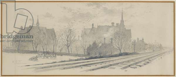 The Manchester Warehousemen and Clerks Orphan School, 1893-94 (pencil on paper)