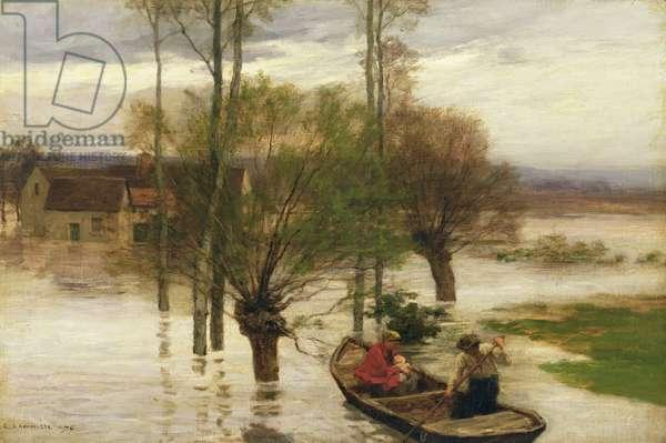 A Flood, 1876 (oil on canvas)