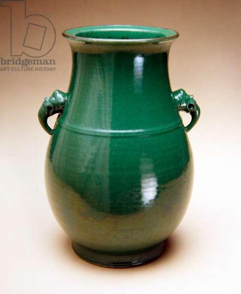 Vase, 1736-95 (porcelain with green crackle glaze)