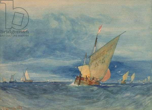 Off Lowestoft: Fresh Breeze, 1833 (w/c on paper)