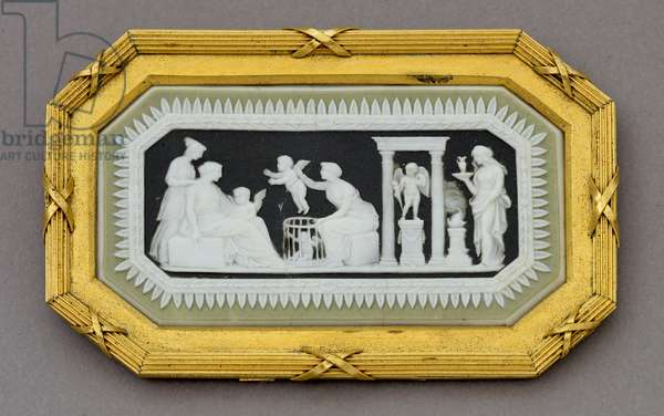 Medallion with the Sale of Cupids and a Sacrifice to Cupid, 1778-1826 (jasperware)