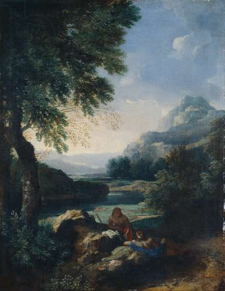 Landscape with Shepherds, c.1660 (oil on canvas)