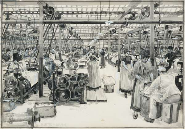 Weaving Sheds, Howarth's Mills, 1893-94 (w/c ink pencil on paper)