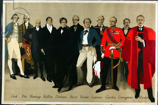 Historical Portraits, from the series 'The Empire is Still in Building', 1927 (colour litho)