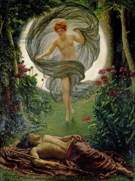 The Vision of Endymion, 1902 (oil on canvas)