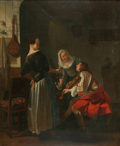 Merry Company, c.1665 (oil on canvas)