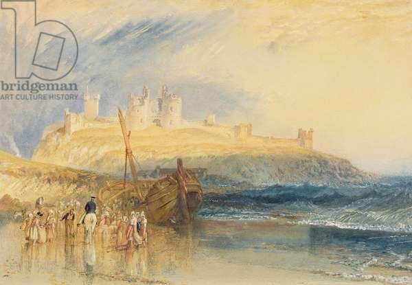 Dunstanborough Castle, Northumberland, c.1829 (w/c on paper)