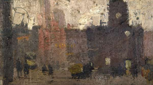 Castlegate, Salford, 1912 (oil on canvas)