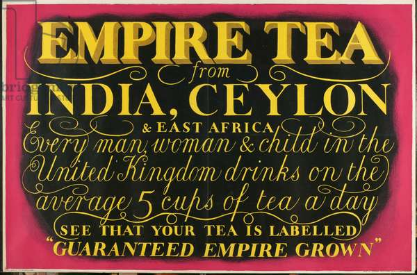 Empire Tea, from the series 'Drink Empire Grown Tea' (colour litho)
