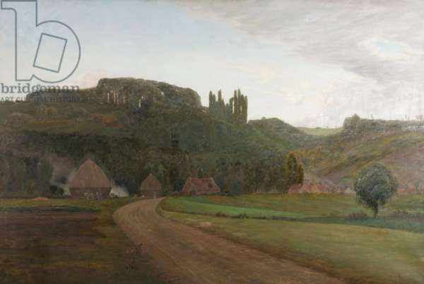 Near the Village of Crecy, France, 1890 (oil on canvas)