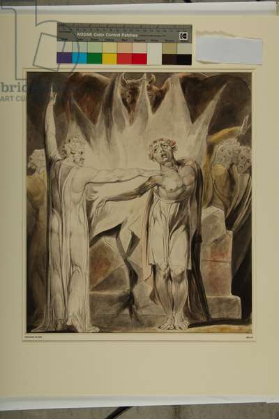 Jeroboam and The Man of God, c.1804 (w/c on paper)