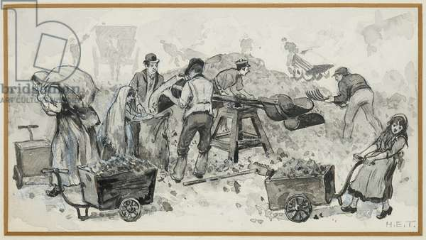 Selling Coke at the Gas Works, 1893-94 (w/c gouache on paper)