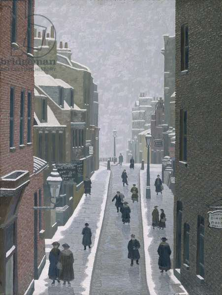 Flask Walk, Hampstead, 1922 (oil on canvas)