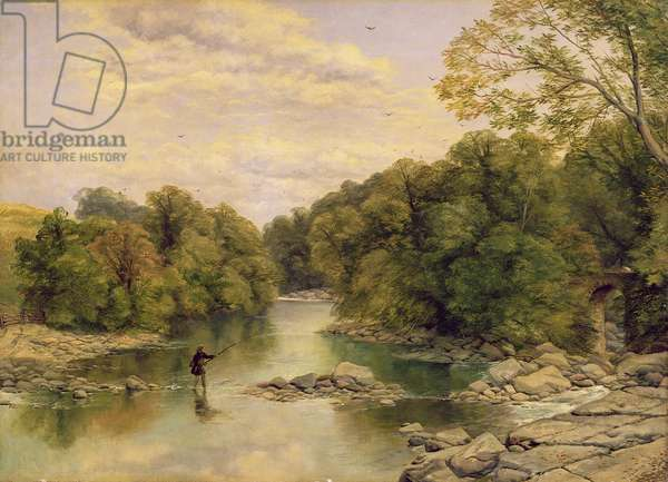 The River Tees at Rokeby, Yorkshire, c.1860 (oil on canvas)