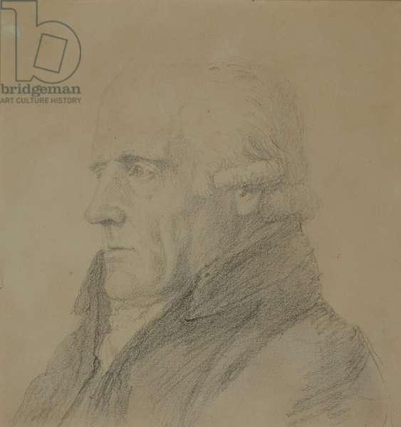 Reverend John Clowes, 1819 (charcoal on paper)