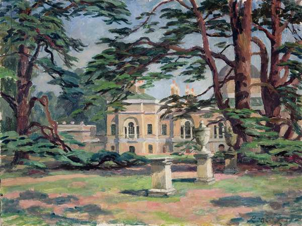Chiswick House (oil on canvas)