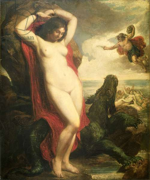 Andromeda and Perseus, c.1840 (oil on canvas)