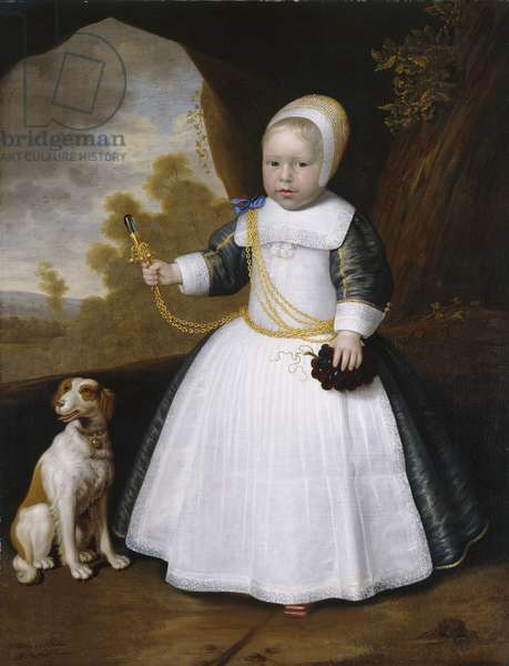 Portrait of a Boy with a Dog, 1660 (oil on canvas)