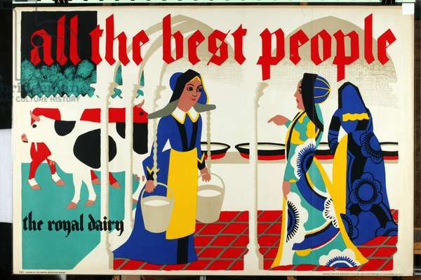 "All the Best People - the Royal Dairy, from the series ""All the best people drink Milk"" [6319380] (colour litho)"