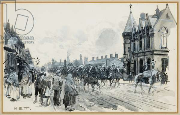Salford Infantry Barracks and Free Library, Regent's Road, 1893-94 (w/c gouache on paper)