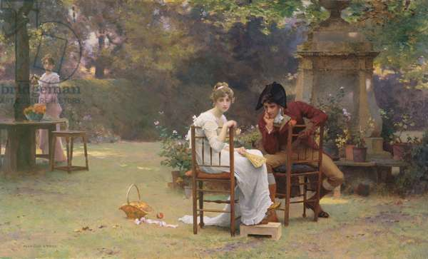 Two's Company, Three's None, c.1892 (oil on panel)