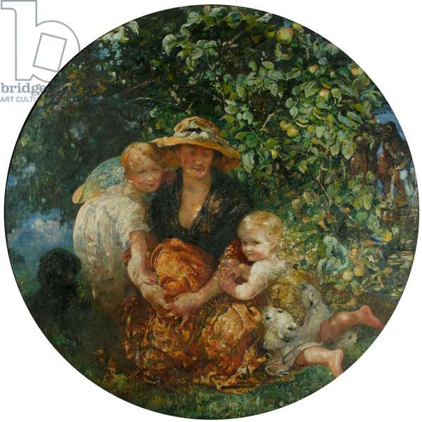 Mrs A Scott-Elliot and Children, 1912 (oil on canvas)