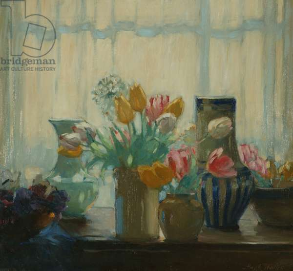 Flowers in the Window, 1922 (oil on canvas)