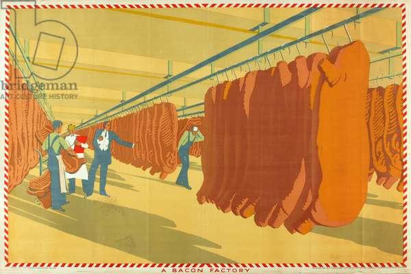 A Bacon Factory (colour litho)
